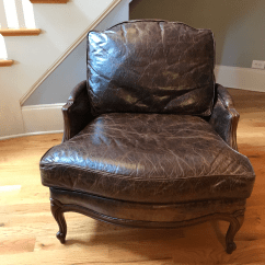 Ethan Allen Leather Chair Cheapest Covers For Sale Versailles Chairish In A Custom Moore Giles Italian Fully Aniline Embossed