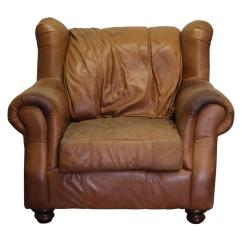 Traditional Leather Wingback Chair Sit Up Chairish For Sale Image 12 Of