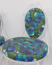 Mid-Century Modern Wrought Iron Patio Chairs - A Pair ...