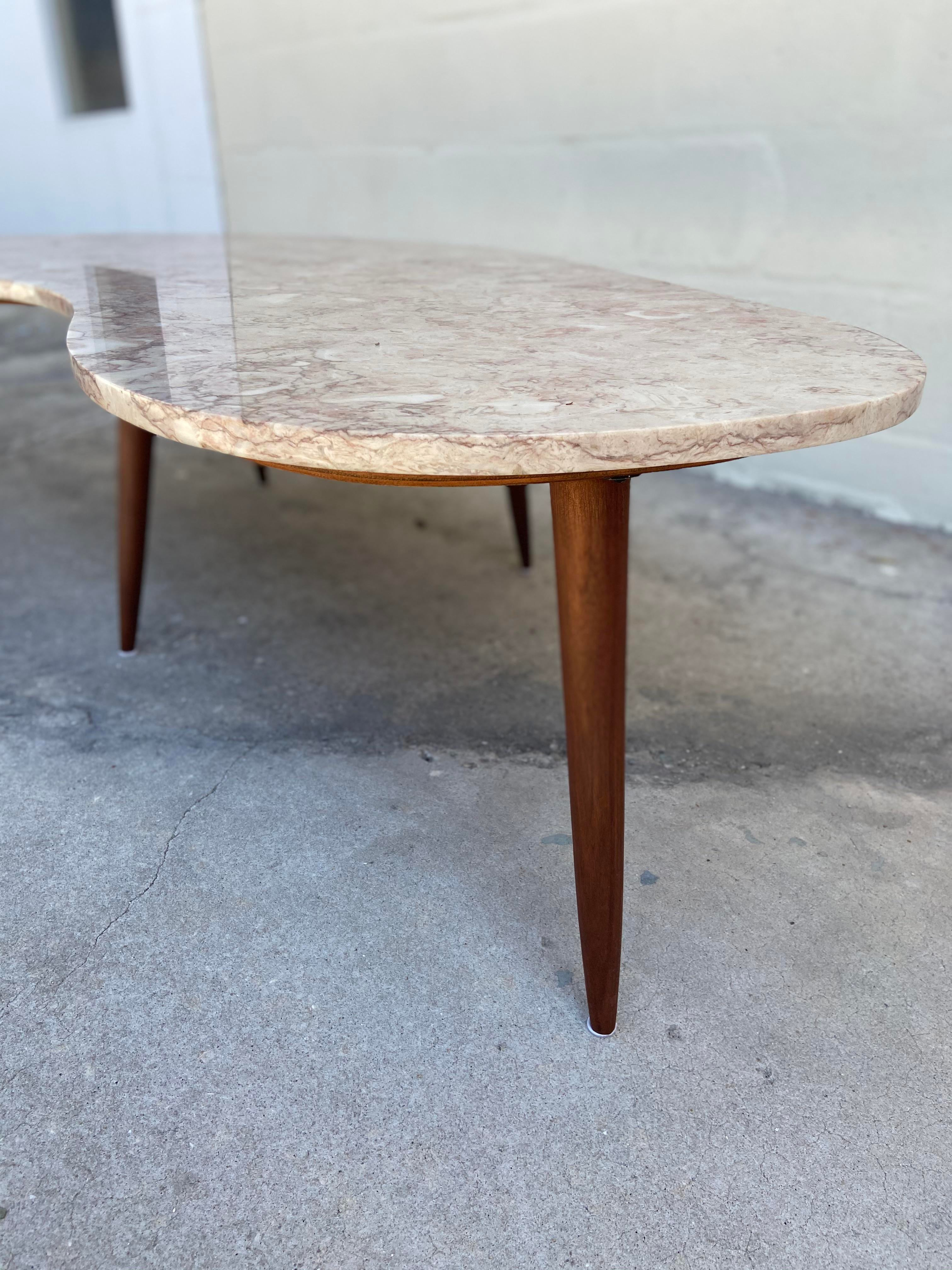 mid century modern studio piece granite top coffee table