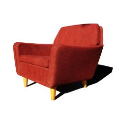 Red Lounge Chair Antique Arm Mid Century Modern Folke Ohlsson For Dux Swedish Sale Image