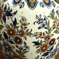 Antique Hand-Painted Porcelain Lamp   Chairish