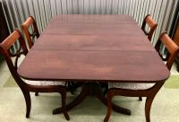 Antique Duncan Phyfe Table And Chairs | Antique Furniture