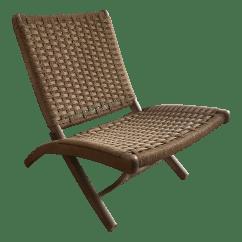 Armless Folding Chair Seat Cushion For Office Mid Century Hans Wegner Style Woven Chairish Sale
