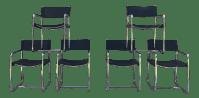 Mid-Century Tubular Chrome Chairs - Set of 6 | Chairish