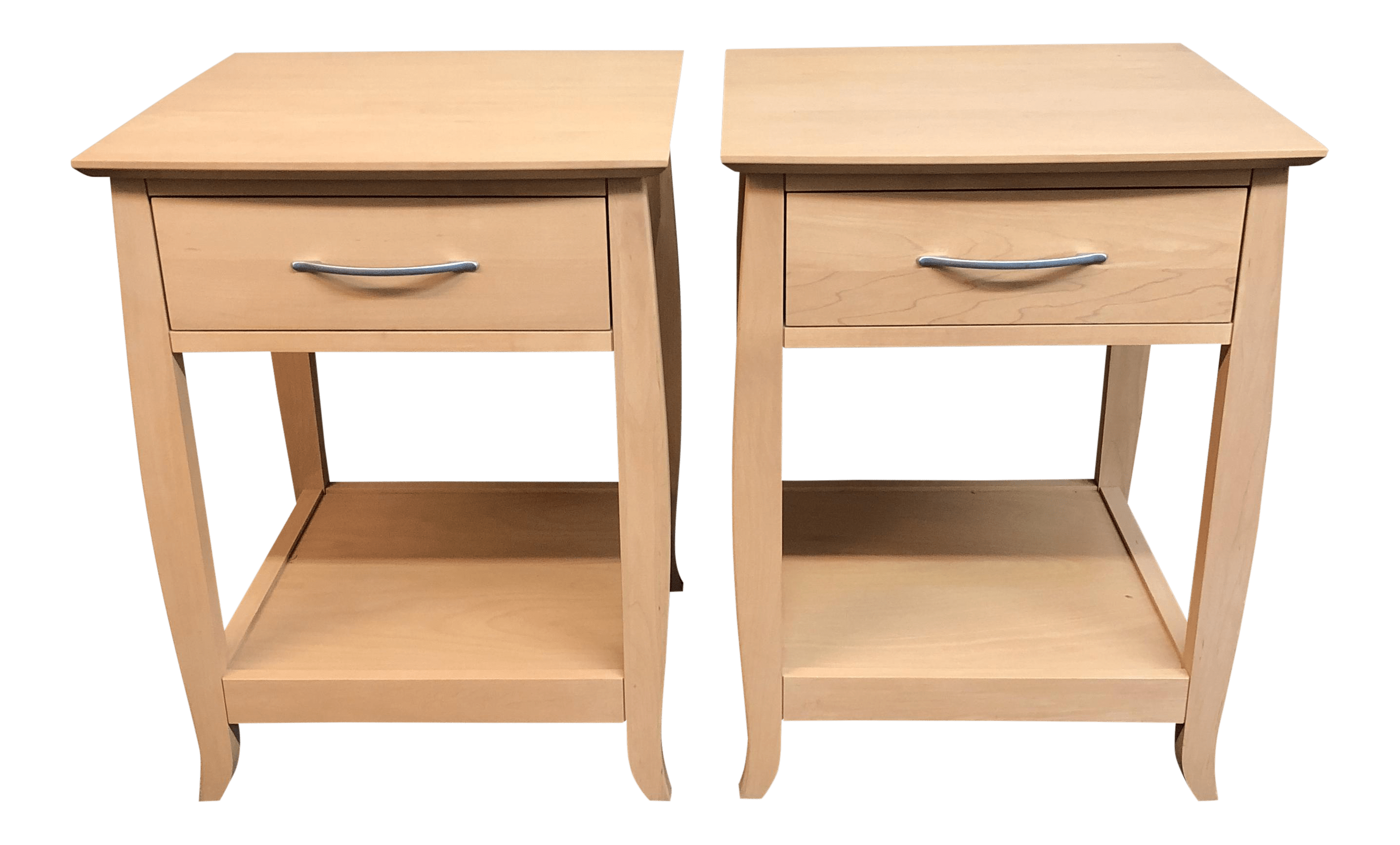 Baronet Of Canada Maple Nightstands A Pair