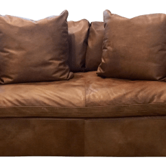 Hanging Chair Restoration Hardware Thick Cushions Gently Used Furniture Up To 50 Off At Chairish Modern Cloud Brown Leather Loveseat