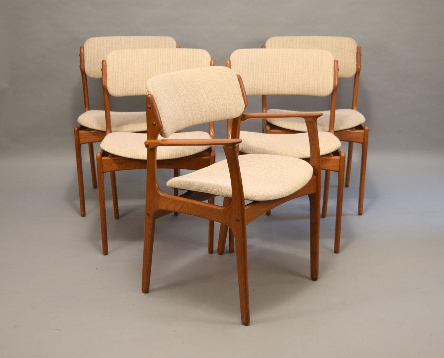erik buck chairs dayton chair factory on hold floating seat teak dining set of 5 described as some the most comfortable ever made these solid and