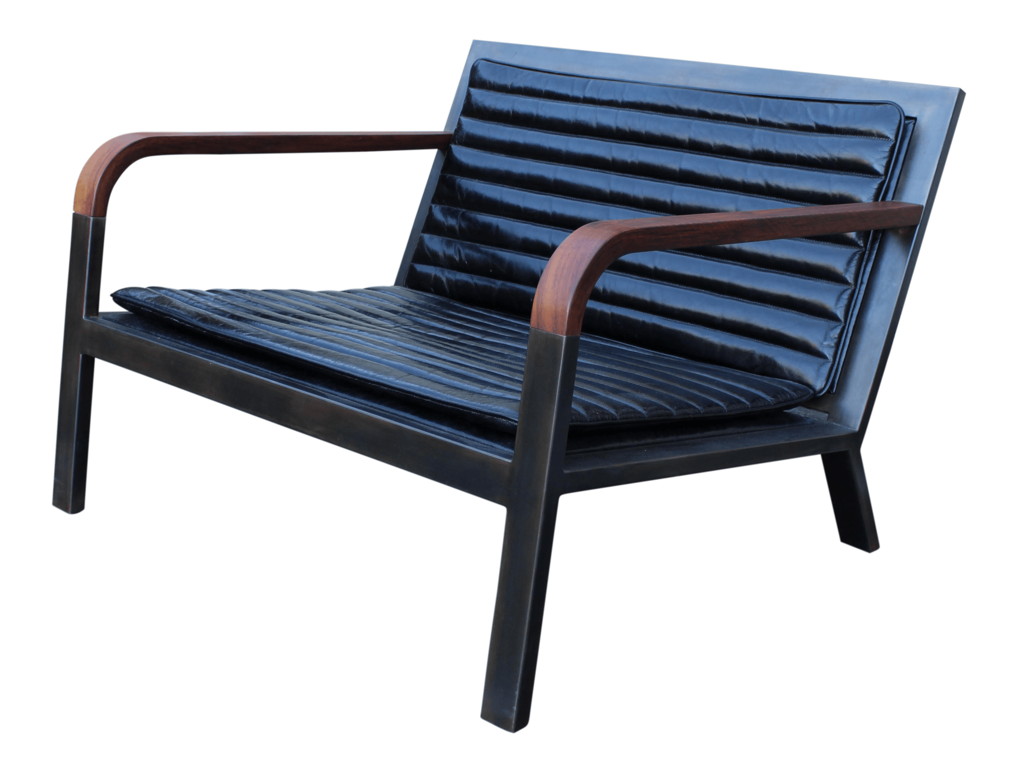 leather armchair metal frame portable outdoor lounge chairs high end uhuru design breini black decaso for sale