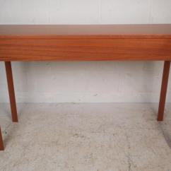 Teak Sofa Table Mitchell Gold Chester Mid Century Modern Console With Drawers Chairish For Sale