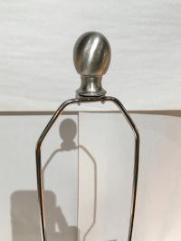 Worlds Away Square Mirrored Lamp | Chairish