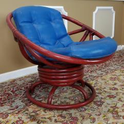 Ficks Reed Chair Kohls Baby Rocking Vintage Red Rattan Swivel Papasan   Chairish