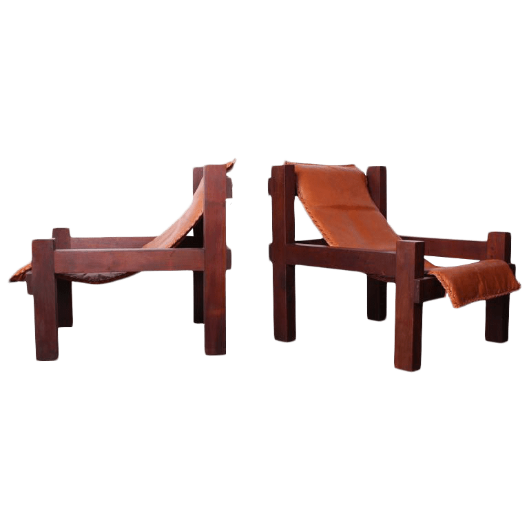 sling chairs for sale adirondack weatherproof excellent pair of large leather decaso