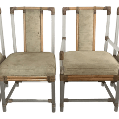 Tall Back Chairs Aluminum Rocking Chair Bjs Vintage Ficks Reed Lucite Rattan Set Of 4 For Sale