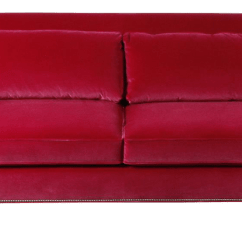 Pink Sofas Chelsea Faux Leather Futon Sofa Bed Vintage Used Chairish Cranberry Velvet Zena