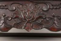 Chinese Zitan Wood Throne Chair | Chairish