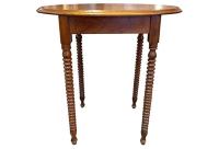 Mid-Century Wood Spiral Leg Side Table | Chairish