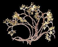 Mid-Century Modern Brass Bamboo Leaf Wall Art Sculpture ...
