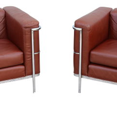 Le Corbusier Chair Revolving Price In Nepal Gently Used Furniture Up To 50 Off At Chairish 1980s Mid Century Modern Lc2 Style Brown Leather Lounge Chairs A Pair