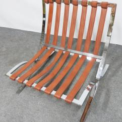 Barcelona Chair Leather Mustard Color Mid Century Chrome Chairish For Sale Image 4