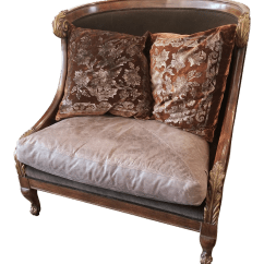 Traditional Leather Wingback Chair Oxo Tot Sprout High Taupe Walnut Oversized Velvet Chairish For Sale
