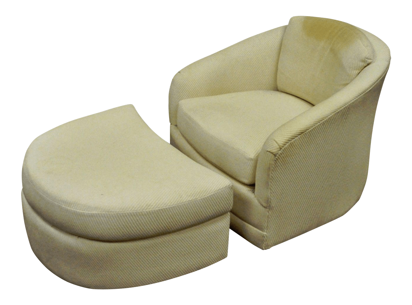 swivel club chair with ottoman plastic stack chairs vintage maurice villency mid century modern lounge for sale