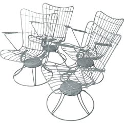 Swivel Patio Chairs Sale Director Chair Covers Ebay Australia Mid Century Set Of 4 Chairish For