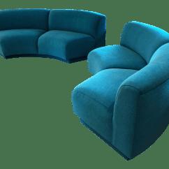 Half Circle Sofas Modern Sofa With Chaise Semi Recliner Baci Living Room
