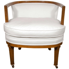 Barrel Back Chair Folding High Chairs Superb Vintage Decaso For Sale