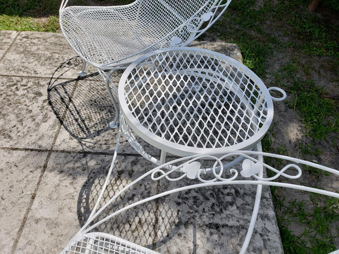 tete a chair outdoor lifetime tables and chairs mid 20th c vintage ivy leaf de patio furniture chairish for sale