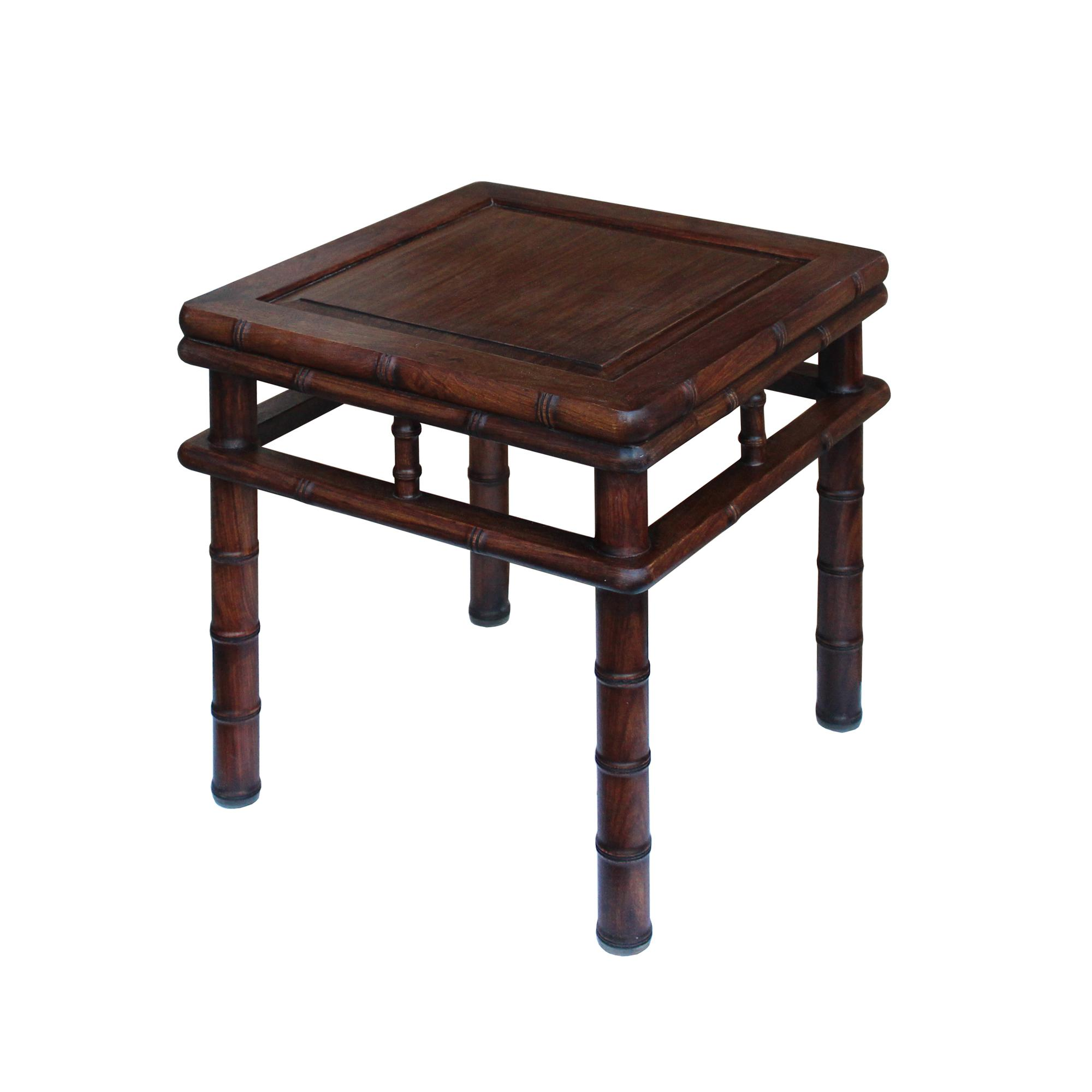 stool chair in chinese back pillow for brown huali rosewood square table chairish sale image 4 of 8