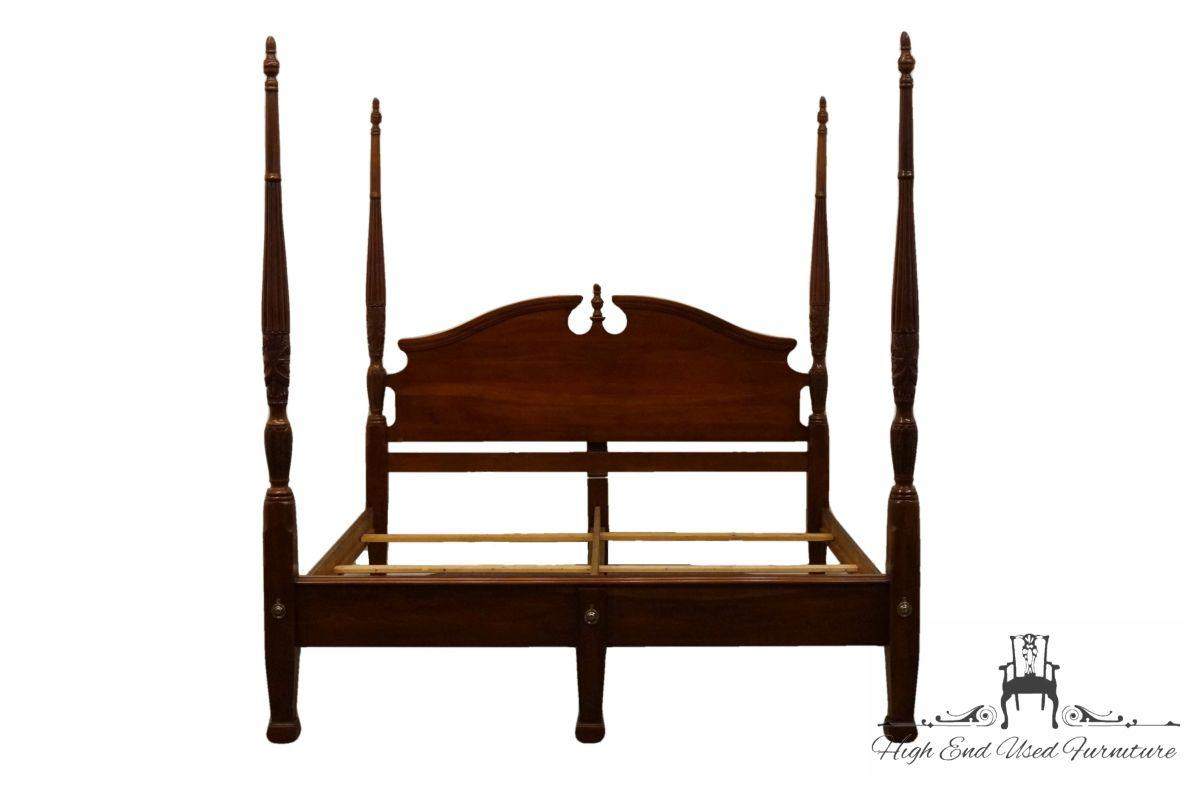 cresent furniture cherryvale collection solid cherry king size four poster rice bed