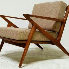 Folding Z Chair Fan Back Wicker Mid Century Vintage Chairish For Sale Image 4 Of 7