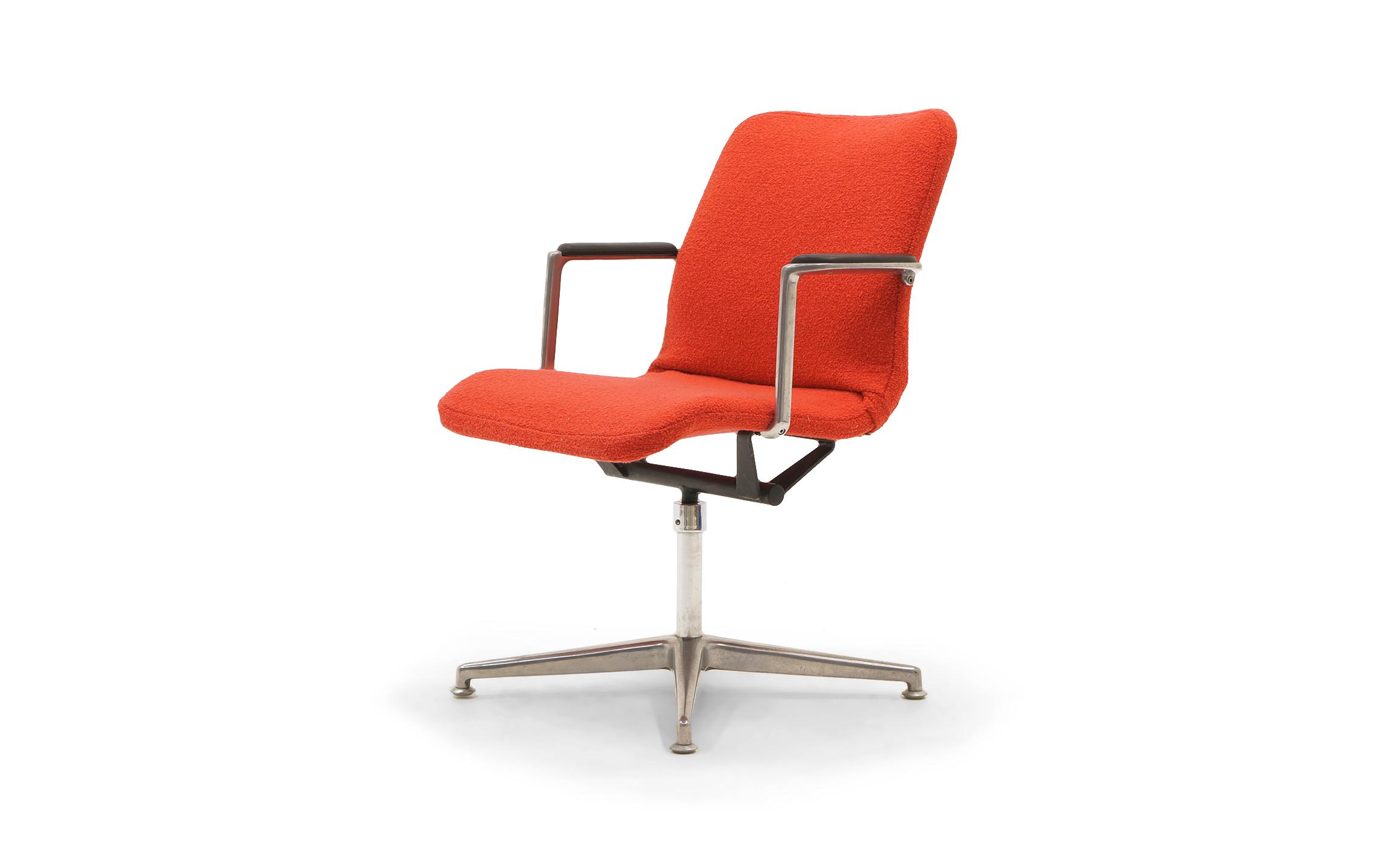 office chair very small papasan cushion exceptional george nelson desk or rare new red freshly reupholstered in a crimson knoll classic boucle
