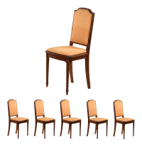 Vintage Louis XVI Style Dining Chairs - Set of 6 | Chairish