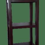Rustic Narrow Solid Wood 5 Tier Bookcase Shelf Unit