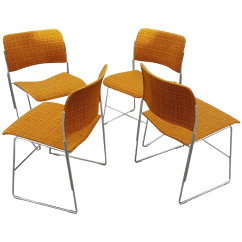 David Rowland Metal Chair Minnie Mouse Table And Set 3 Pc Stacking Dining Chairs Chairish