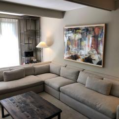 Belgian Classic Slope Arm Slipcovered Sofa White Sofas Living Room Campbellandkellarteam Vintage Restoration Hardware L Sectional