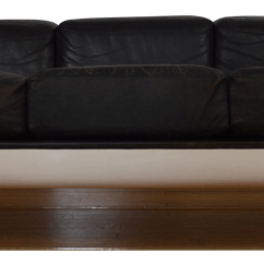 Steelcase Sofa Platner Broyhill Leather Space Age Modern Chairish For Sale