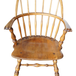 Windsor Chair With Arms Armchair Covers For Office Chairs Vintage Used Sale Chairish Mid 19th Century Antique Sack Back Knuckle Arm