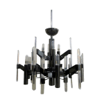 Vintage Black Mid Century Modern Chandelier With 9 Arms Chairish