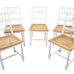 Antique Cane Dining Room Chairs Hay About A Chair Aac22 French Shabby Chic White Washed Summer Country Seat Set Of 5