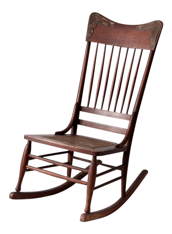 antique rocking chairs for sale leather chair chairish