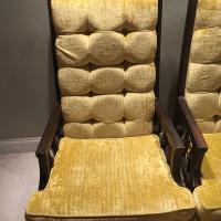 Mid Century Modern Retro Yellow Tufted Velvet Chairs ...