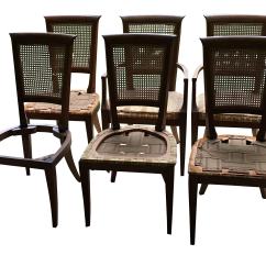 Dining Chairs With Caning High Back Leather Australia Baker Cane Set Of 6 Chairish