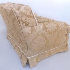 Rope Bottom Chair First Years Travel High Damask Down Filled Cushion Skirted Trim Club Chairs 1980s A