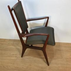Vladimir Kagan Rocking Chair Vanity Stool Dining Chairs Set Of 4 Chairish Mid Century Modern For Sale Image