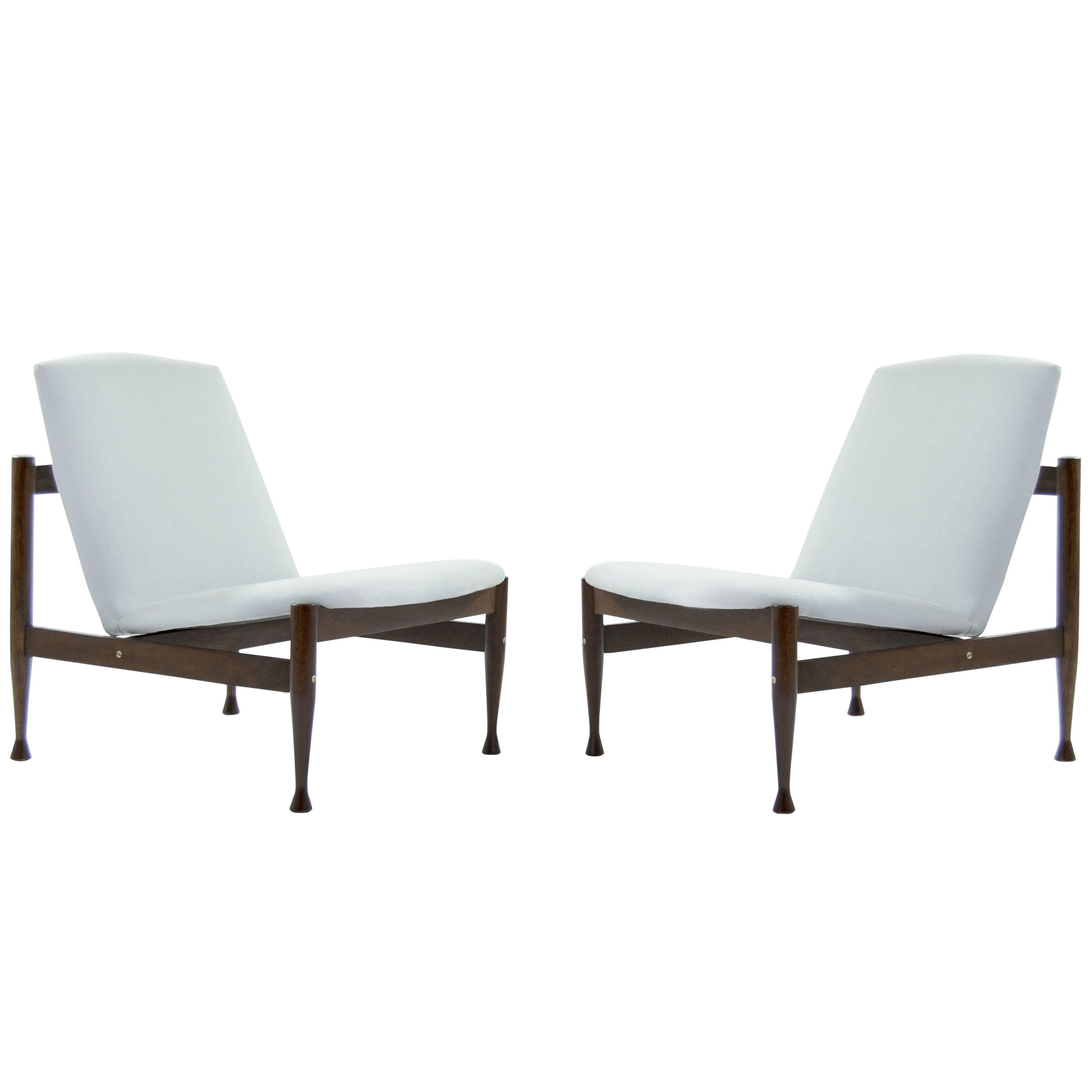 contemporary lounge chairs remote control holder for chair luxury danish modern brass accented a pair decaso sale