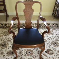 Antique Queen Anne Chair Plumbing Free Pedicure 1870 1890 Hand Carved Walnut Arm Chairs Chairish For Sale