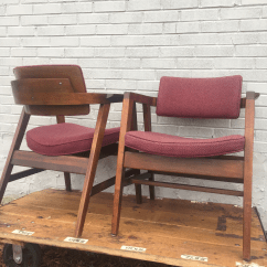 Wh Gunlocke Chair Patio Cushion Covers Walmart Walnut Mid Century Chairs A Pair Chairish Set Of Two 2 Made By The Company In New York